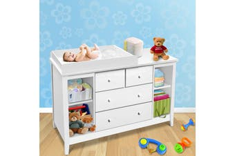 Keezi Change Table Baby Chest of Drawer Dresser Cabinet Changer Nursery Toy Box