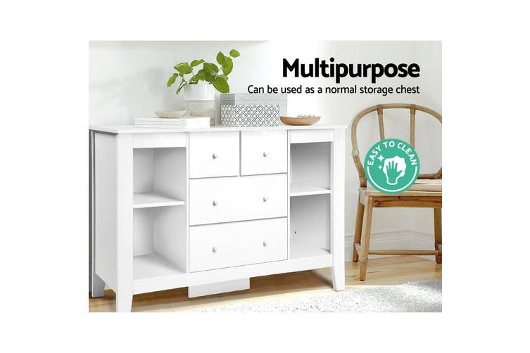 Keezi Change Table Baby Chest Of Drawer