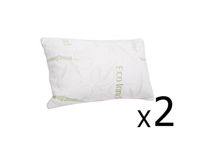 Giselle Bedding Bamboo set Pillow Memory Foam Pillows Contour Twin Pack Soft Hotel
