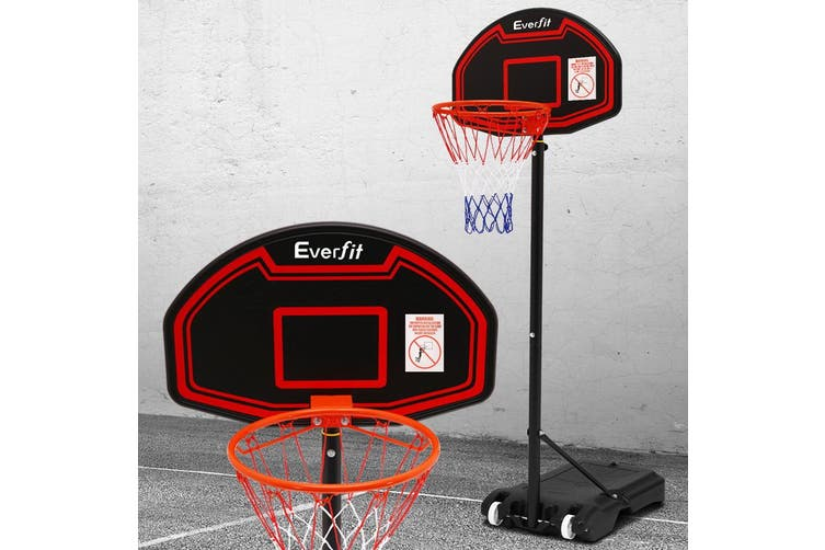 Everfit Pro Portable Basketball Stand System Hoop Height Adjustable Net Ring BK