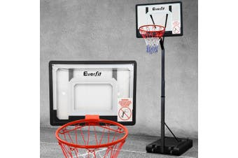 Everfit Basketball Hoop Stand System Net Ring Portable Height Adjustable Kid