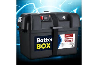 Giantz Battery Box 12V Camping Portable Deep Cycle AGM Universal Large XL