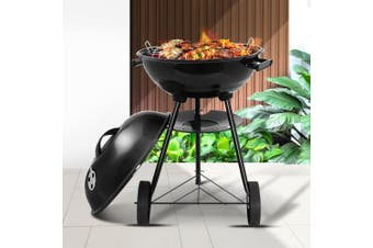 Grillz Charcoal BBQ Smoker Grill Outdoor Camping Patio Wood Barbeque Steel