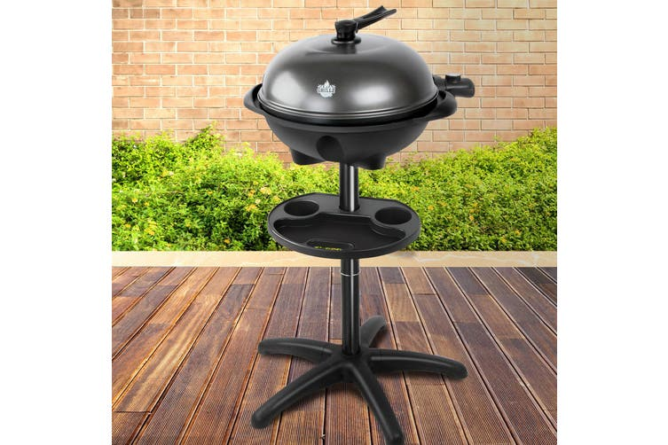 Grillz Outdoor Electric BBQ Smoker Kettle Barbeque Portable Grill Non Stick