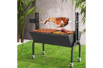 Grillz Electric Rotisserie BBQ Charcoal Smoker Grill Spit Roaster Outdoor