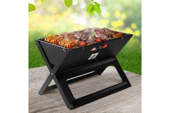 Grillz Portable BBQ Charcoal Grill Smoker Outdoor Steel Camping Barbecue