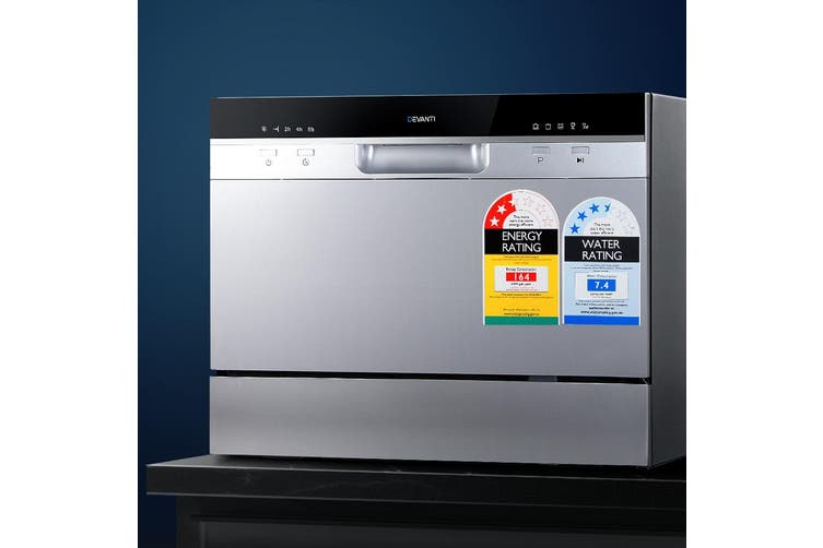 Devanti Benchtop Dishwasher Freestanding Countertop Dish Washer 6 Place