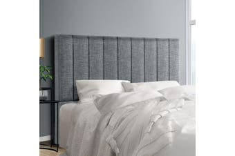 Artiss Upholstered Bed Headboard Double Size Tufted Fabric Bed Head Frame Base SALA Grey