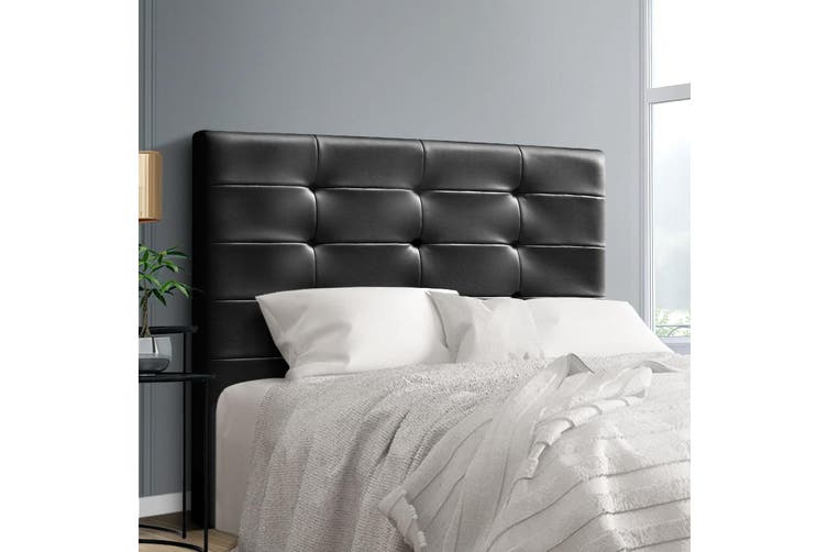 Artiss Upholstered Bed Headboard Double Size Leather Bed Head Leather Frame Base BENO