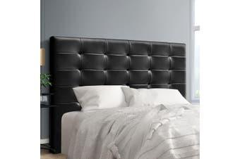 Artiss Upholstered Bed Headboard King Size Leather Bed Head Frame Base BENO Black