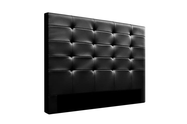Artiss Upholstered Bed Headboard Queen Size Leather Bed Head Frame Base BENO Black
