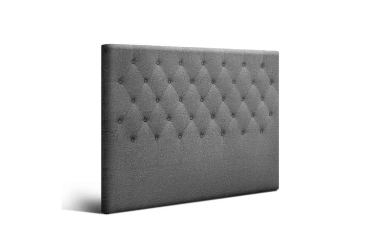 Artiss Upholstered Bed Headboard Double Size Tufted Fabric Bed Head Frame Base CAPPI Grey