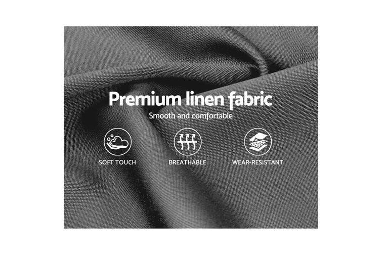 Artiss Single Size Bed Frame Base Mattress Platform Fabric Wooden Grey NEO