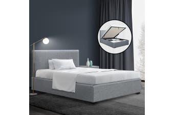 Artiss Gas Lift Bed Frame (Grey)