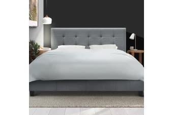 Artiss Double Full Size Bed Frame Base Mattress Platform Grey Fabric Wooden SOHO