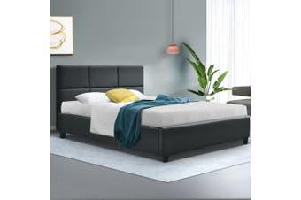 Artiss Single Size Bed Frame Base Mattress Platform Fabric Wooden Charcoal