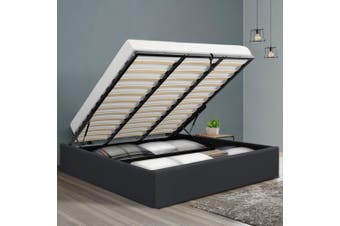 Artiss King Size Gas Lift Bed Frame Base With Storage Platform Fabric