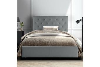 Artiss King Single Size Bed Frame Base Mattress Platform Fabric Wooden Grey VAN