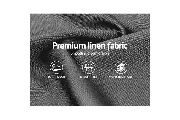 Artiss Queen Size Bed Frame Base Mattress Platform Fabric Wooden Grey VAN