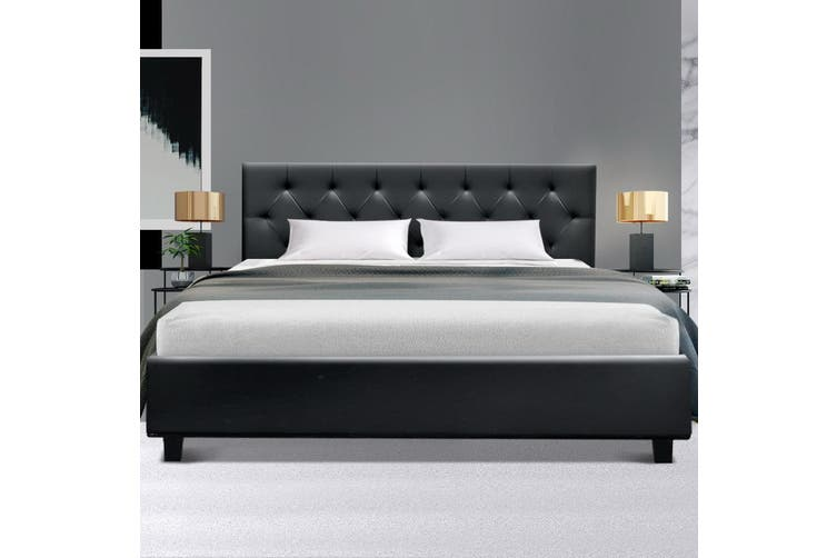 Artiss Queen Size Bed Frame Base Mattress Platform Wooden Leather VANKE