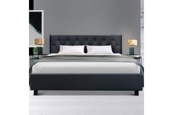 Artiss Queen Size Bed Frame Base Mattress Platform Fabric Wooden Charcoal