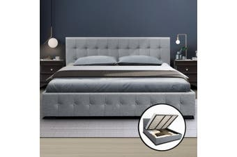 Artiss King Size Gas Lift Bed Frame Base With Storage Mattress Fabric