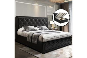 Artiss King Size Gas Lift Bed Frame Base With Storage Mattress Leather