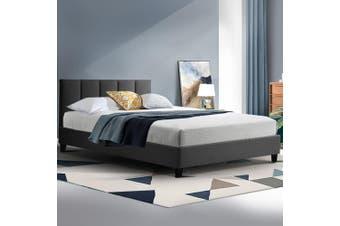 Artiss Bed Frame King Single Size Base Mattress Platform Fabric Wooden ANNA Charcoal
