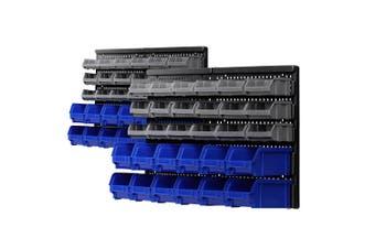 Giantz 60 Bin Wall Mounted Rack Storage Tools Organiser Shed Work Bench Garage