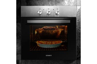 Devanti Electric Built in Wall Oven 60cm Grill Stove Convection Stainless Steel