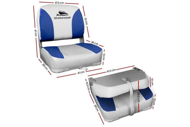 Seamanship 2X Folding Boat Seats Seat Marine Seating Set All Weather Swivels B&G