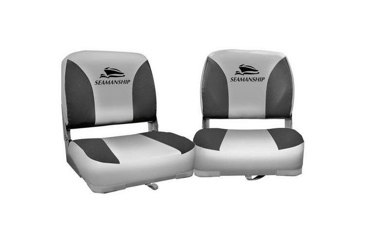 Seamanship 2X Folding Boat Seats Seat Marine Seating Set All Weather Swivel