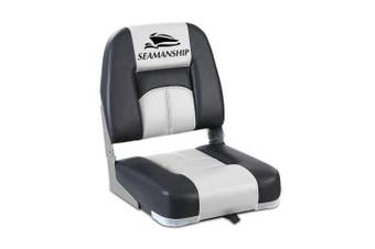 Seamanship 2X Folding Boat Seats Seat Marine Seating Set Swivels All Weather