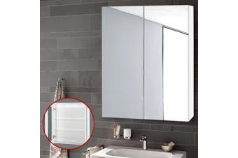 Cefito Bathroom Mirror Storage Wall Cabinet Vanity Medicine Wooden Shaving White 600mm x720mm