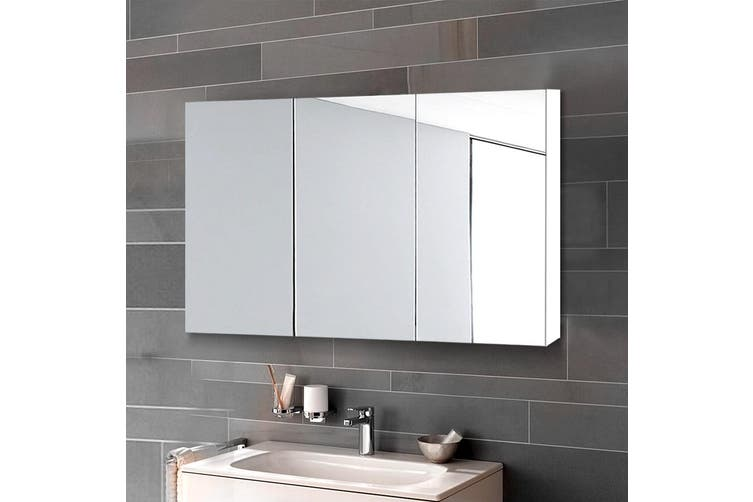 Cefito Bathroom Mirror Storage Wall Cabinet Vanity Medicine White Shaving 900mmx720mm Kogan Com