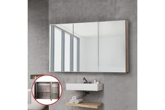 Cefito Bathroom Mirror Storage Wall Cabinet Medicine Shaving Vanity Wooden 1200x720mm