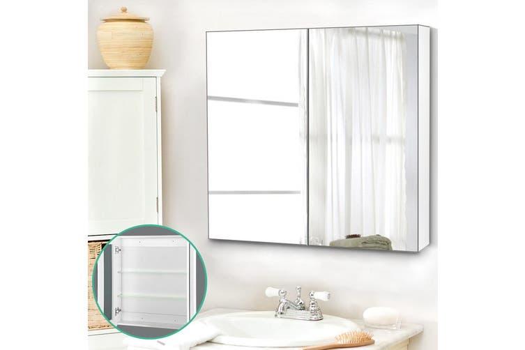 Cefito Bathroom Mirror Cabinet Bathroom Vanity Bathroom Storage Bathroom Cabinet 750mm Matt Blatt
