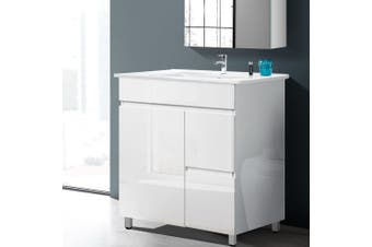 Cefito 750mm Bathroom Vanity Cabinet Unit Wash Basin Sink Storage Freestanding White