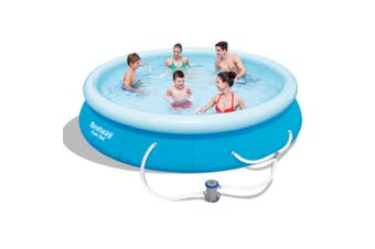 Bestway Above Ground Fast Set Swimming Pool Family Filter Pump 12ft