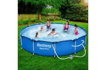 Bestway Swimming Pool Above Ground Pools Filter Pump 3.66M Power Steel Frame