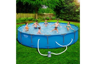 Bestway Steel Pro Frame Swimming Pool Above Ground Filter Pump