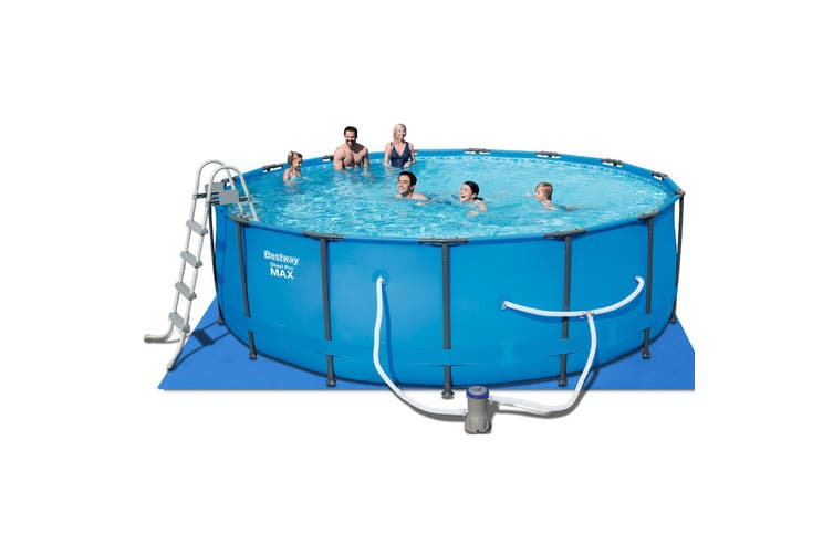 Bestway Above Ground Swimming Pool 15ft Steel Frame Filter Pump