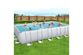 Bestway Above Ground Swimming Pool Power Steel Rectangular Frame Pools Filter