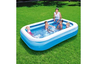 Bestway Inflatable Play Kids Pool Swimming Rectangular Pool Family