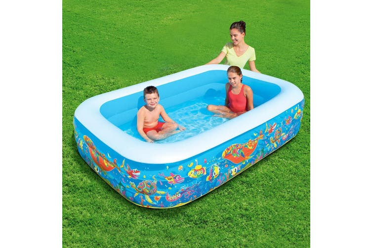 Bestway Inflatable Swimming Pool Rectangular Family Kids Play Pools 229x152cm