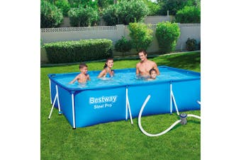 Bestway Swimming Pool Steel Frame Above Ground Pool Filter Pump