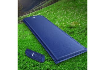 Weisshorn Self Inflating Mattress Single Camping Mat Air Bed Sleeping Pad Navy Water Proof Non Slip Camp Hike Hiking