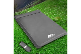 Weisshorn Self Inflating Mattress 10cm Thick Sleeping Camping Mat Suede Surface Air Bed Pad Grey