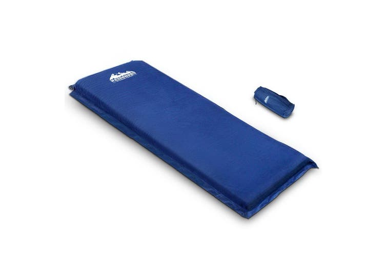 Weisshorn Self Inflating Mattress Single 10cm Thick Camping Mat Suede Surface Air Bed Sleeping Pad Navy Water Proof Non Slip Camp Hike Hiking