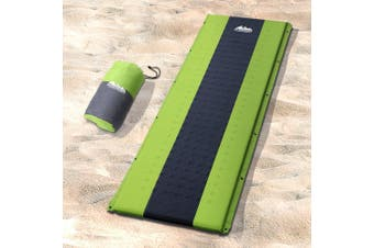 Weisshorn Self Inflating Mattress Single Camping Mat Smooth Surface Air Bed Sleeping Pad Green Water Proof Non Slip Camp Hike Hiking